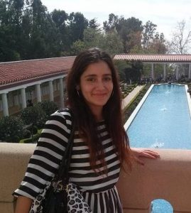 Daniela visiting The Getty Villa